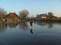 schaatsen op de plas